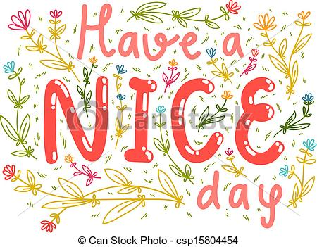 ... Have a nice day wishing card