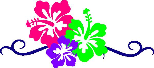 Hawaiian Flower Border Clip Art-hawaiian flower border clip art-4