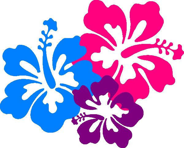 Hawaiian Flower Border Clip Art-hawaiian flower border clip art-5