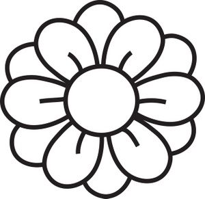 Hawaiian Flower Clip Art Black And White | Clipart Panda - Free .