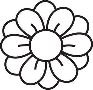 Hawaiian Flower Clip Art Black And White | Clipart Panda - Free .