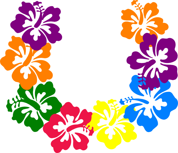 Hawaiian flower clip art borders free clipart images 3
