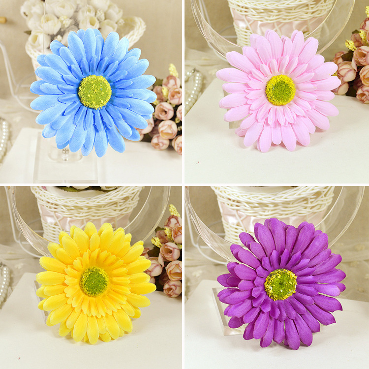 hawaiian flower hair clips