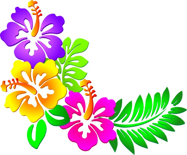 Hawaiian Flowers Clip Art Cli - Tropical Flower Clipart