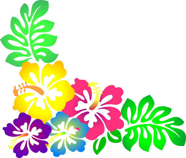 Hawaiian luau tiki flowers clipart clipart kid