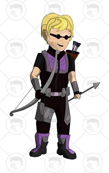 Avengers Character Hawkeye Clipart n Vector