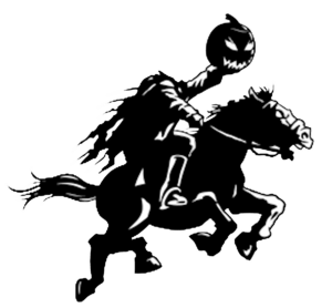 Headless Horseman. Headles Horsemen Logo Cut .