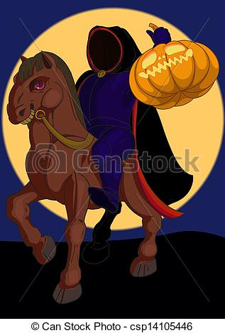... headless horseman - Jack o lantern Halloween symbol on the... ...