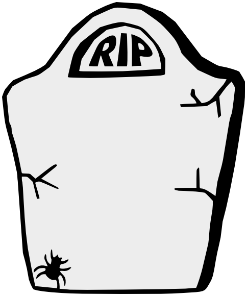 Headstone Clipart Outline; To   Blank Tombstone Clipart