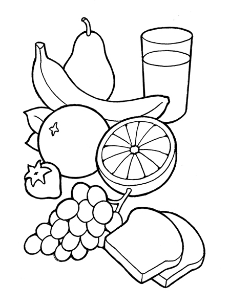 Healthy Food Clipart Black-healthy food clipart black-16