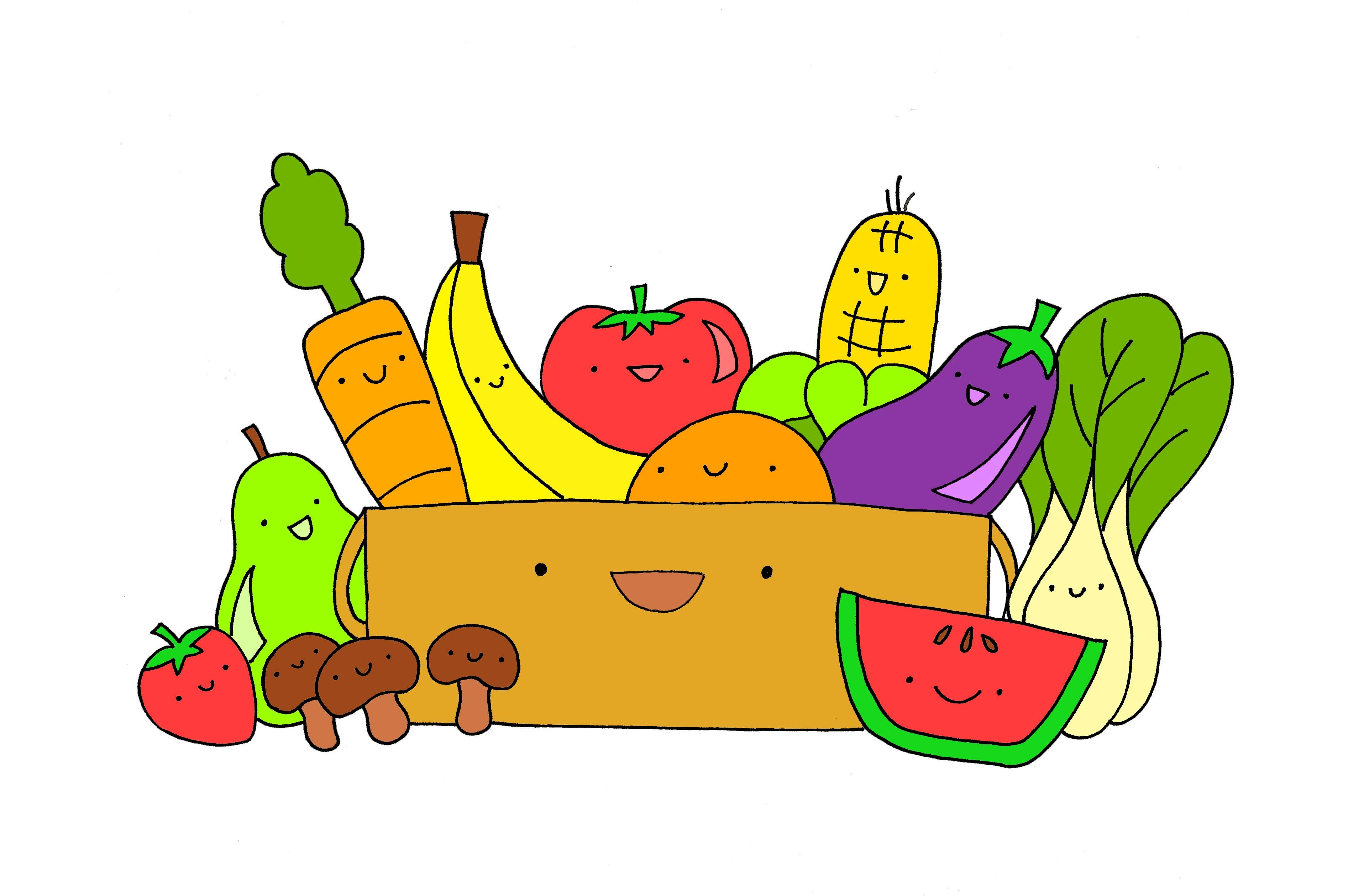 Healthy Food Clipart Border
