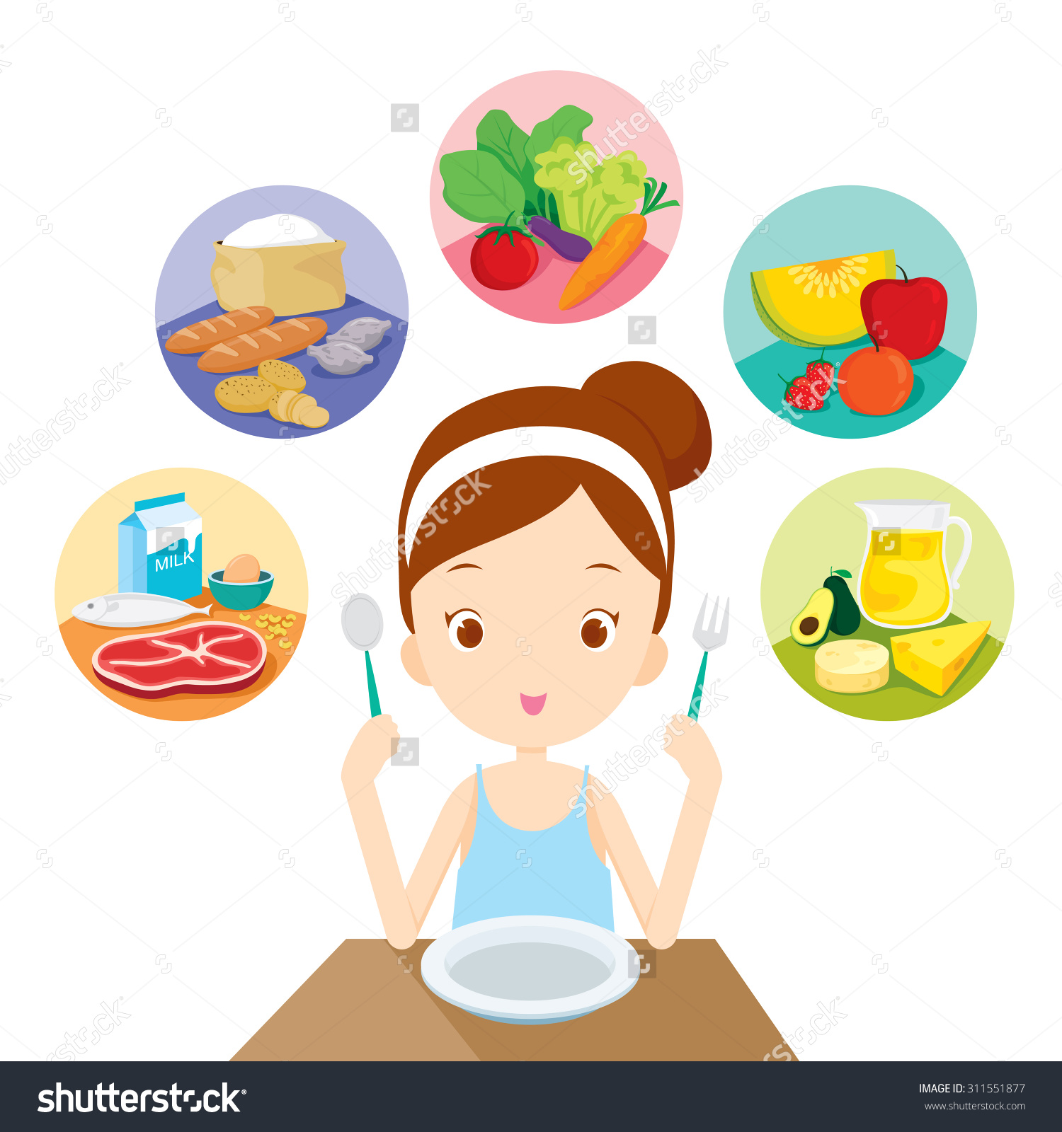 eating healthy food clipart 6 - Healthy Food Clipart