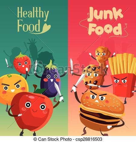 Healthy Food Versus Unhealthy Food - csp28816503