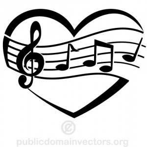 heart border clipart black and white