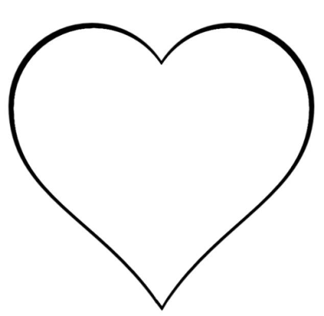 heart outline clip art-heart outline clip art-1
