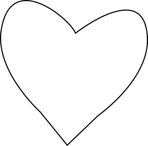 Heart Outline Clipart Black And White-heart outline clipart black and white-14