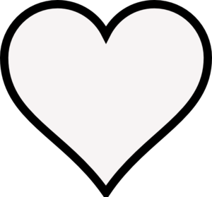 heart outline clipart black and white-heart outline clipart black and white-0