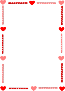 Heart And Candy Border Clip Art At Clker Com Vector Clip Art Online