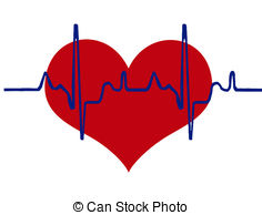 ... Heart and heartbeat background - heart and heartbeat.