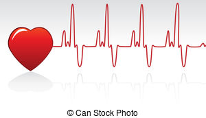 ... heart and heartbeat - vector heart and heartbeat heart and heartbeat Clip Artby ...