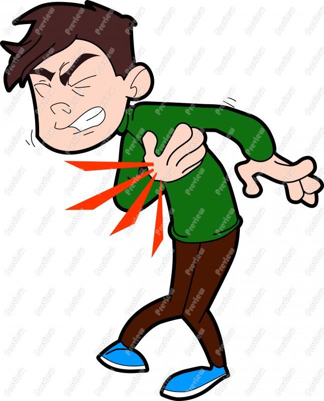 Heart Attack Clipart. Man Having Heart Attack .
