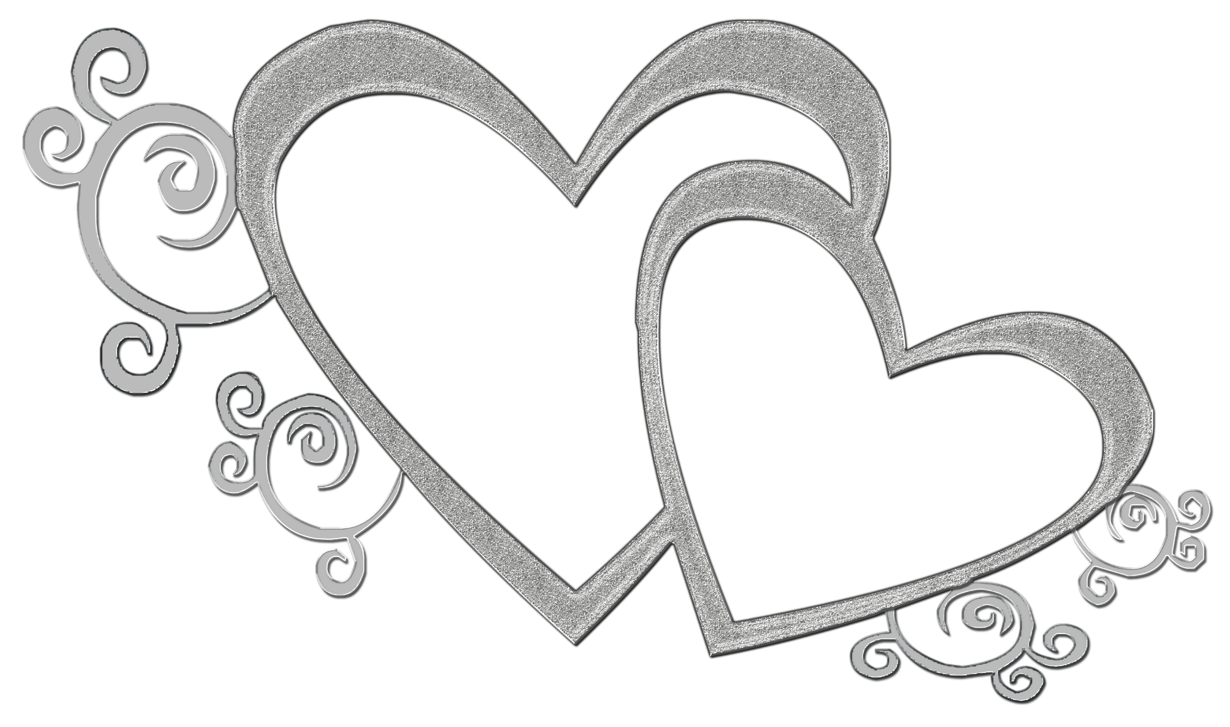 Heart Black And White Double Heart Clipa-Heart black and white double heart clipart black and white-16