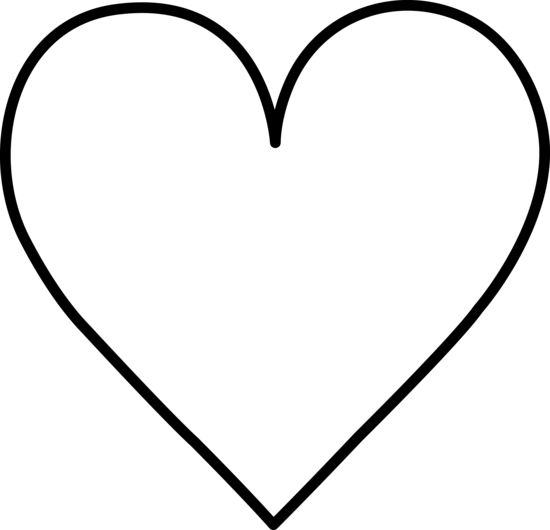 Heart black and white heart b - White Heart Clipart