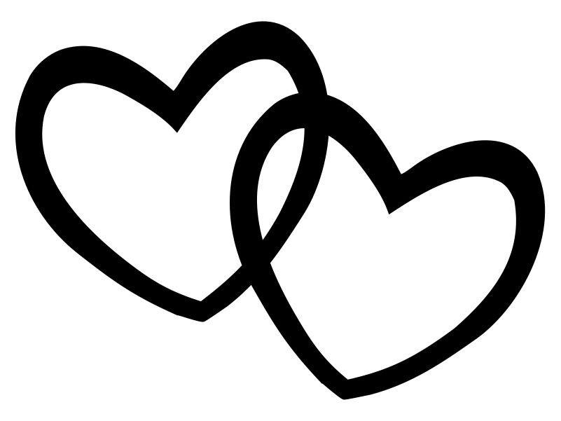 Heart black and white heart .