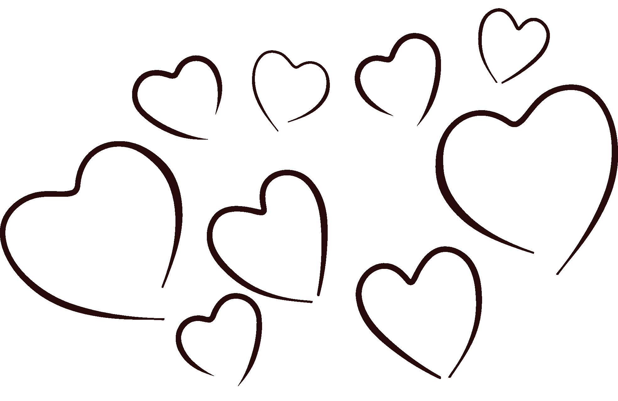 Heart Black And White Row Of Hearts Clip-Heart black and white row of hearts clipart black and white-10