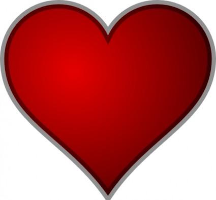 Heart clip art free vector in .