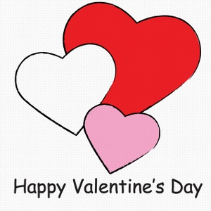 Heart clip art valentines day