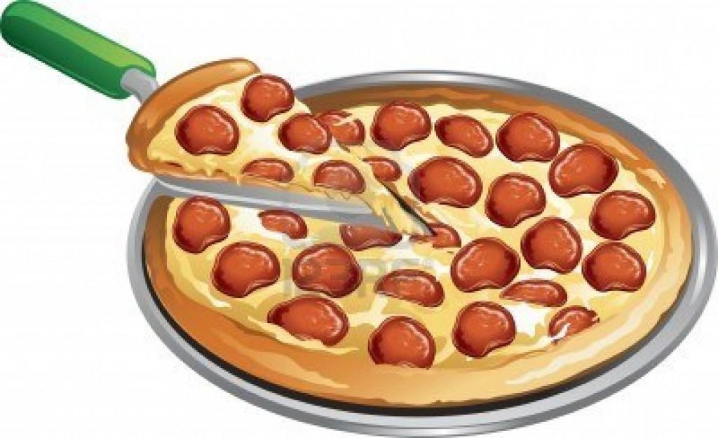 Heart clip pizza cliparts