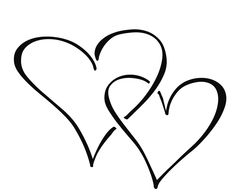 heart clipart Double Heart Clipart Black And White #14