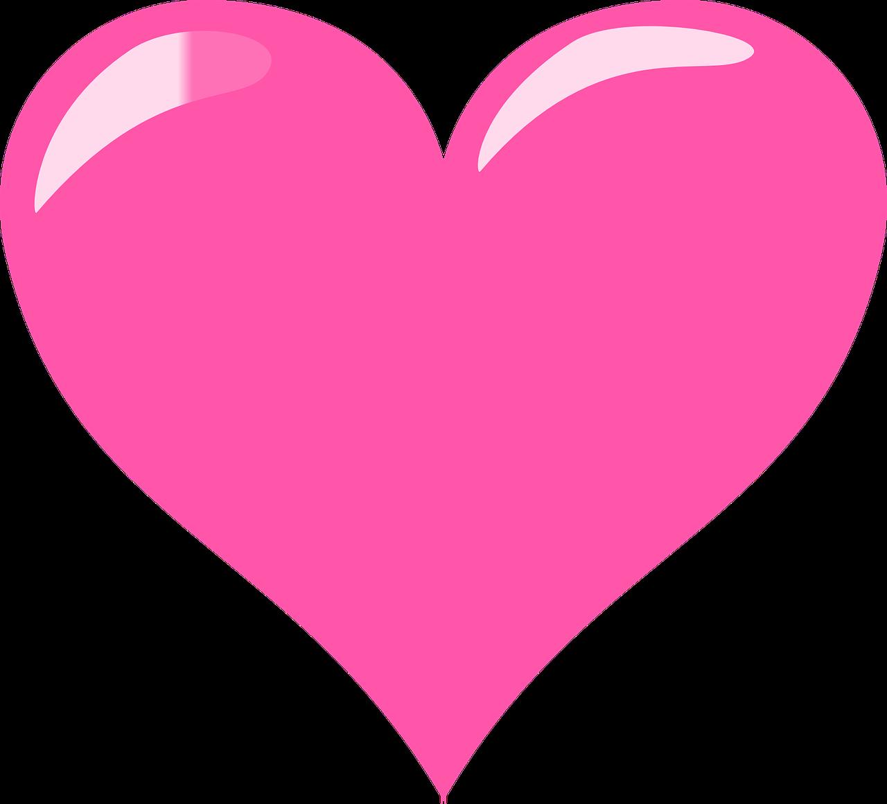 Free Pink Heart Clip Art