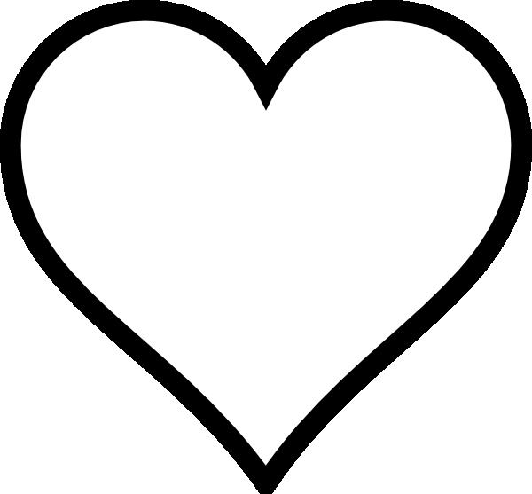 heart stencil | Plain Heart clip art - vector clip art online, royalty free  u0026