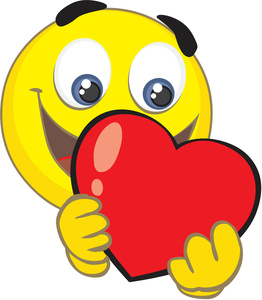 Heart Clipart Image Cartoon Clip Art Illustration Of A Smiley Face