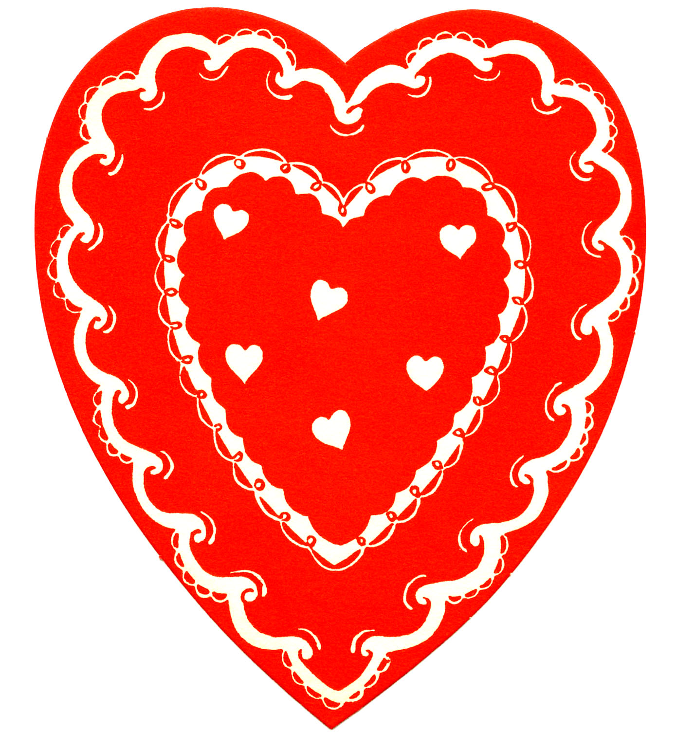 Heart Clipart Image: Red Heart. Vintage -Heart Clipart Image: Red Heart. Vintage Valentine-5