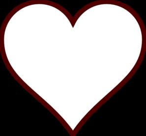 White Heart Clip Art