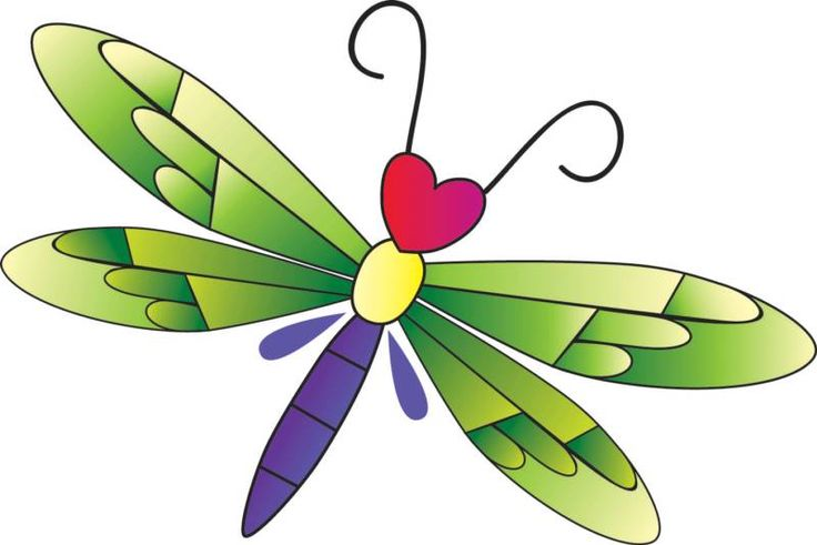 Heart Dragonfly | Clip Art | Clipart library