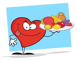 Heart healthy foods, Clip art .