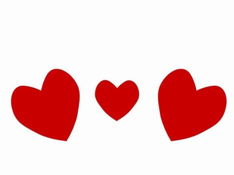 Heart Shape Clip Art PowerPoint Template