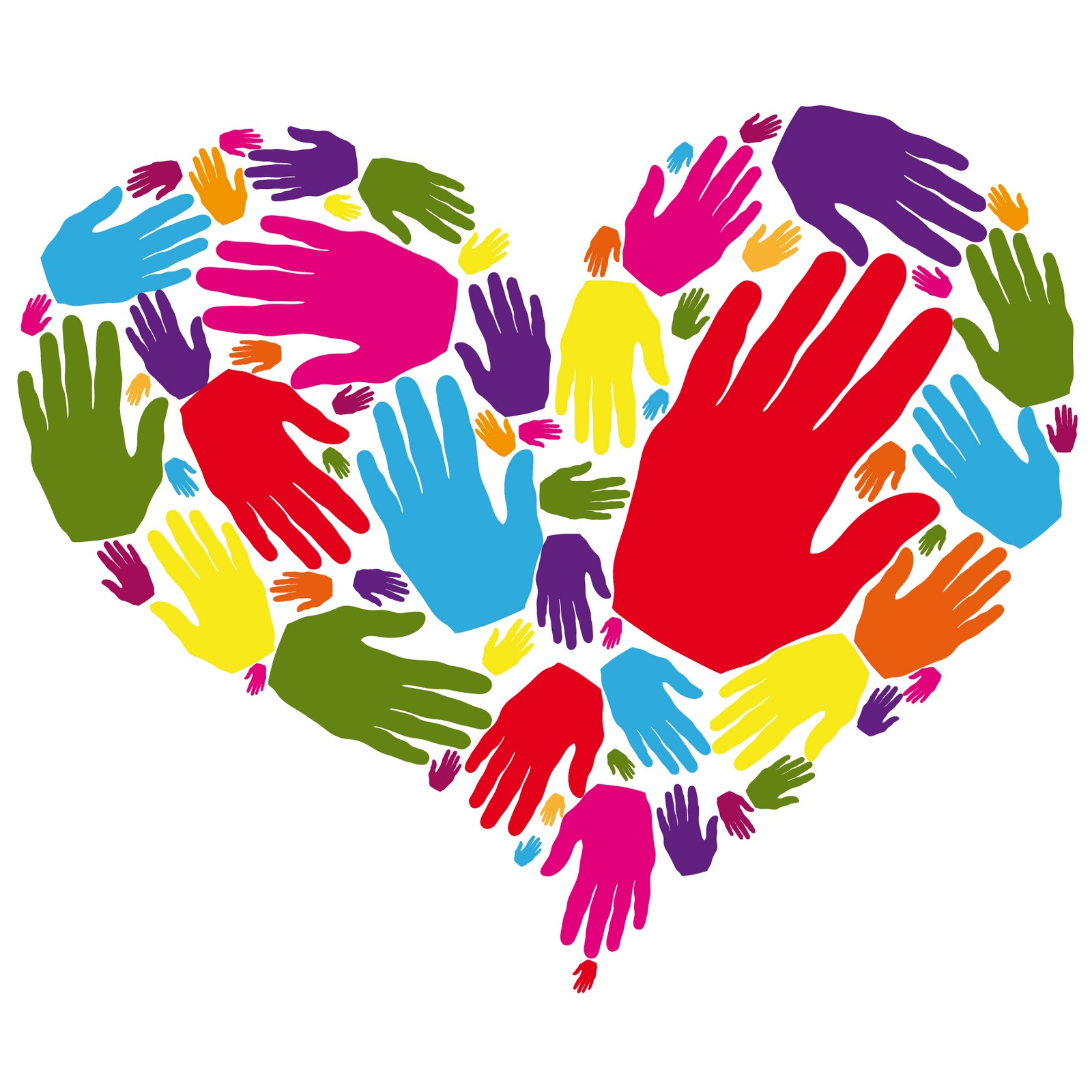 Heart Shape Helping Hands Clipart