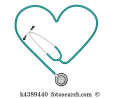 Heart Stethoscope - Stethoscope Images Clip Art