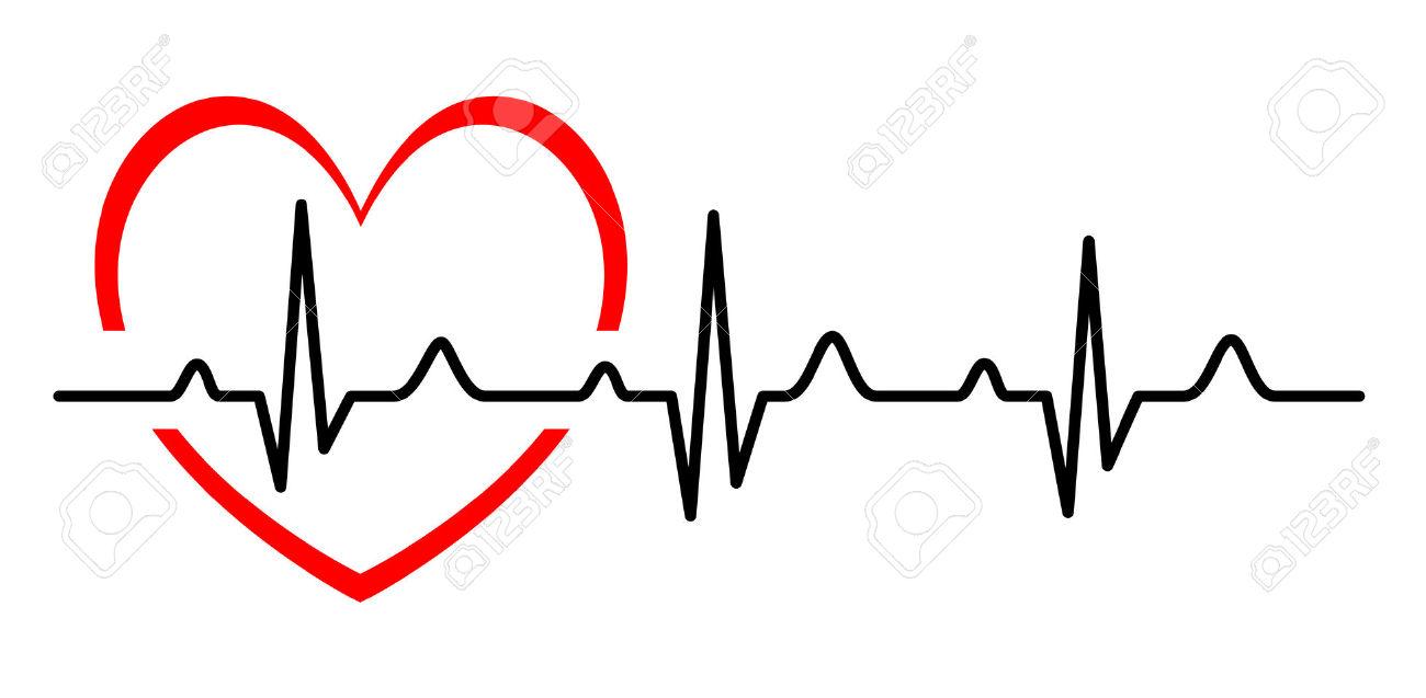 heartbeat: Illustration - Abstract heart beats cardiogram