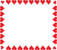 hearts border clipart - Heart Border Clipart