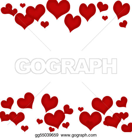 Hearts u0026amp; Lace u0026mi - Valentines Day Borders Clip Art