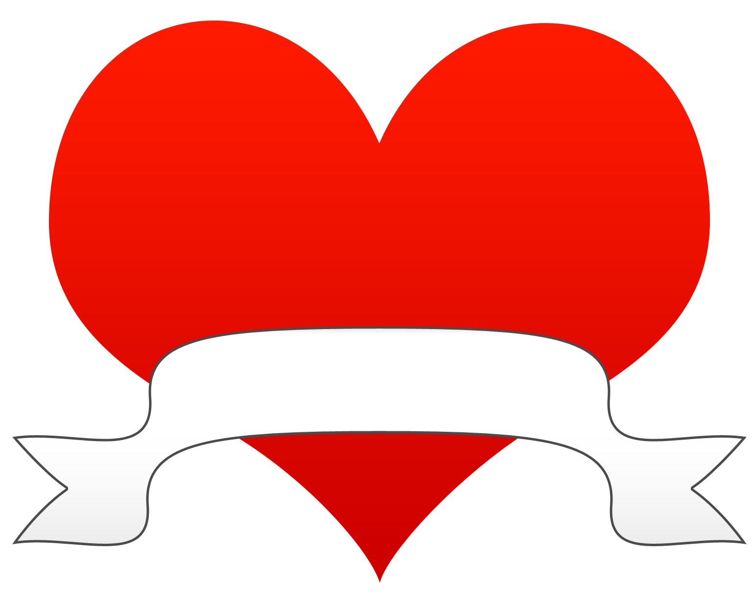 Hearts heart clip art black and white free clipart images