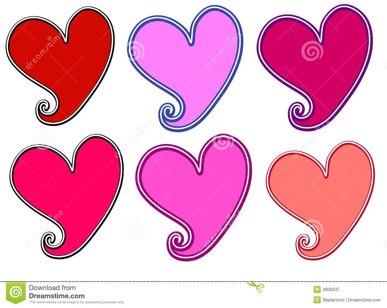 Hearts Valentines Clipart ... Resolution 1300x1035 .