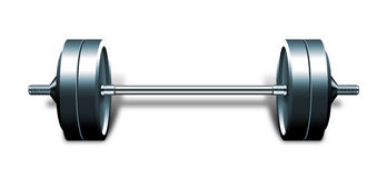Heavy Barbell Isolated On White Royalty -Heavy Barbell Isolated On White Royalty Free Stock Images-13