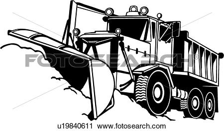 heavy equipment, construction, snow plow, trade, truck,. ValueClips Clip Art